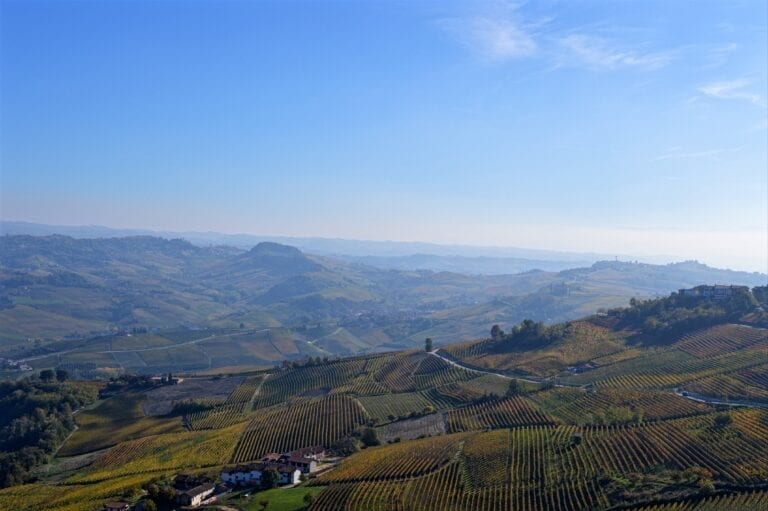La Morra Viewpoint - Looking over Barolo wine country - Piedmont, Italy