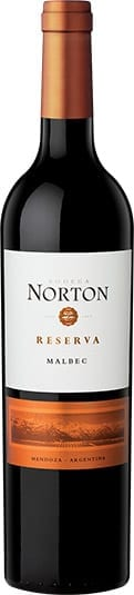 Bodega Norton Malbec Reserva red wine bottle from Argentina