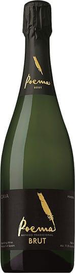 Poema Cava Brut sparkling wine bottle from Penedes, Spain