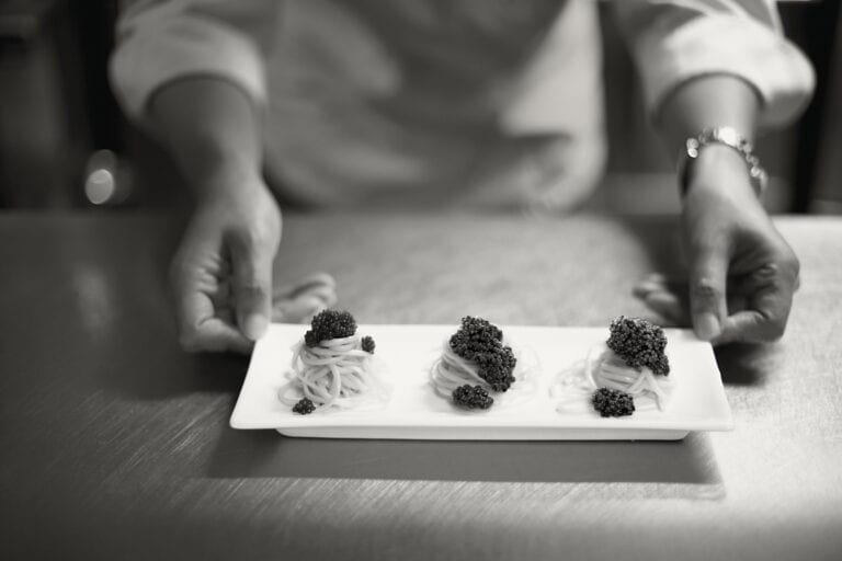 Caviar on a plate