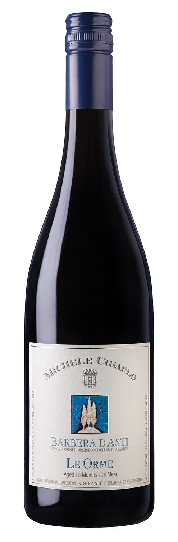 Michele Chiarlo Barbera d'Asti Le Orme, bottle image, red wine, Piedmont, Italy