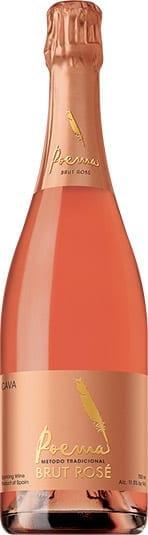 Poema Cava Brut Rose sparkling wine bottle