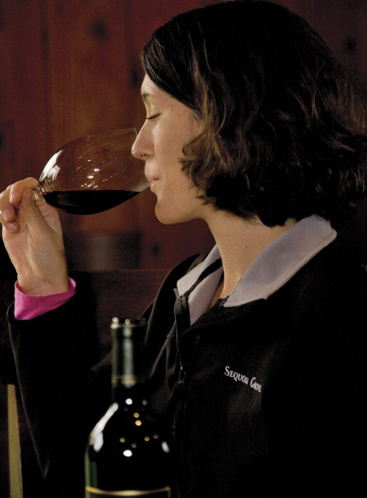 Molly Hill, winemaker for Sequoia Grove Winery in Napa Valley, California