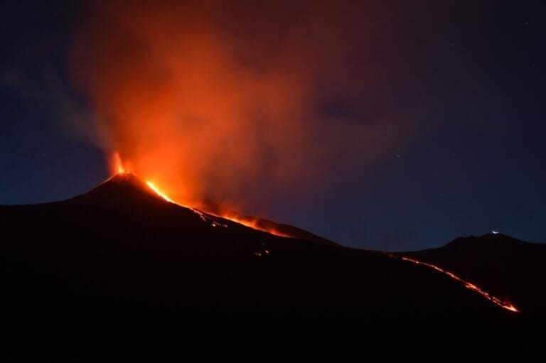 Mount Etna, by Shawn Appel - Unsplash. Volcano erupting in Sicily, Italy