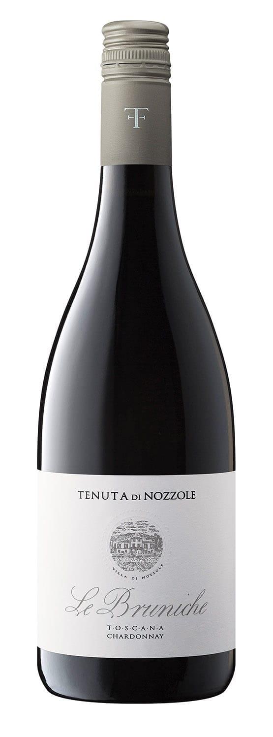 Tenuta di Nozzole Le Bruniche Chardonnay Toscana IGT, Italian wine, bottle shot, Italy, white wine