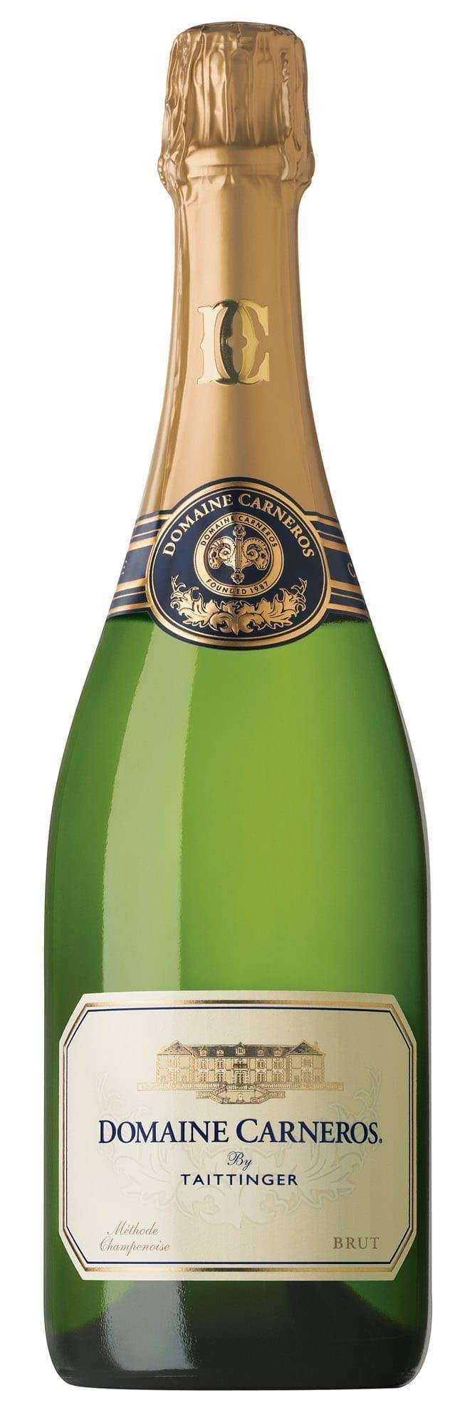 Domaine Carneros Brut sparkling wine bottle shot