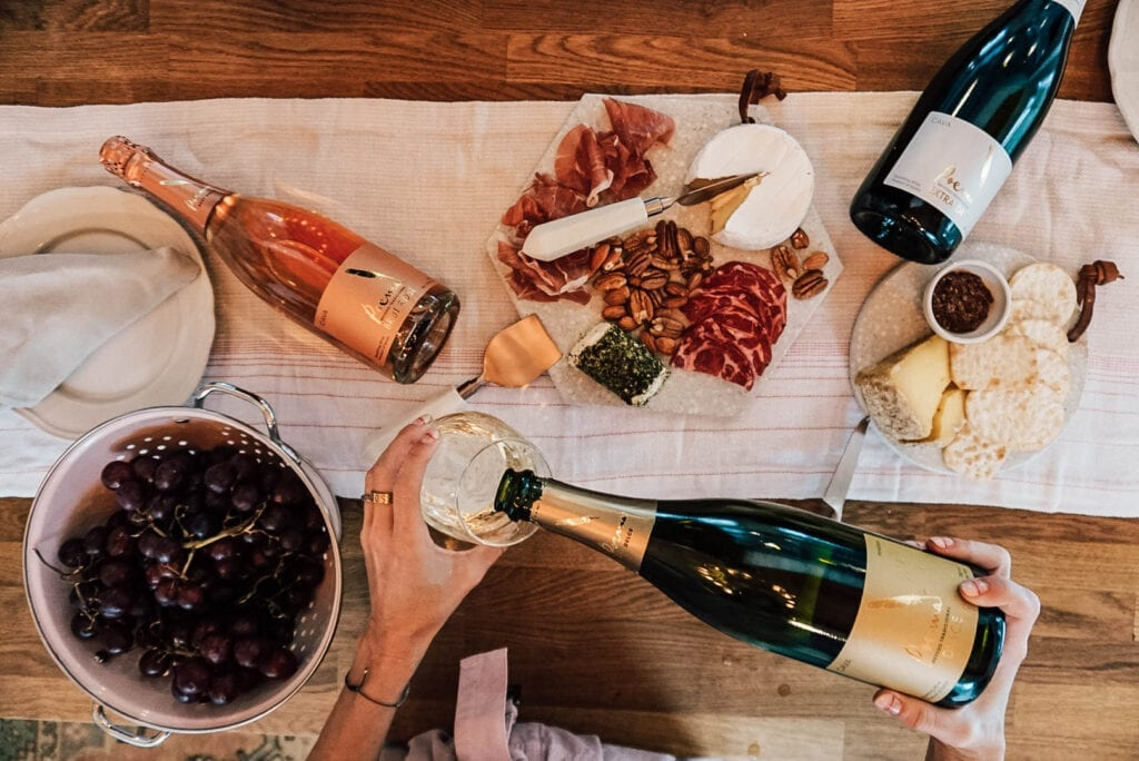 Photo by Ashley Nelson Buyout. Cava, spread, Spanish, sparkling wine, wine and food pairings