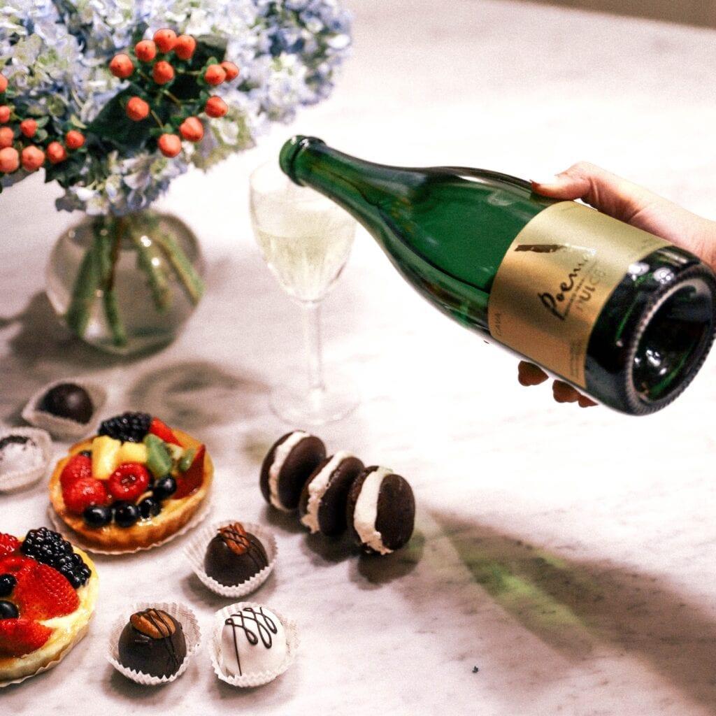 Poema Cava Dulce, dessert pairing with wine, sparkling, bubbles