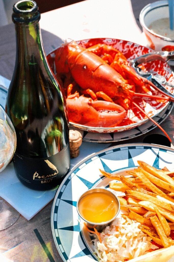 Poema Brut and seafood, Cava, wine and food