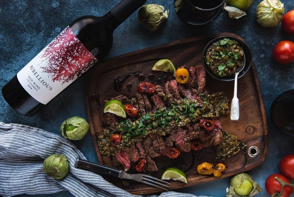 Rebellious wine and skirt steak recipe