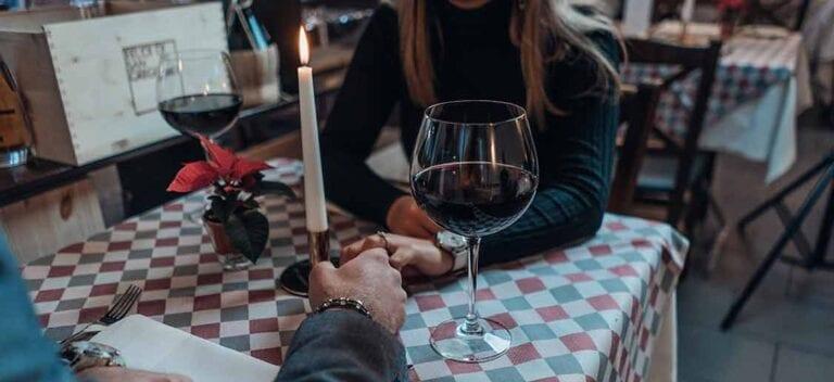 Restaurant Date Night Wine