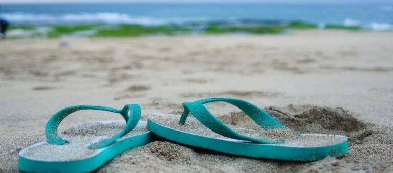 Go Barefoot Day Flipflops Sand Fun
