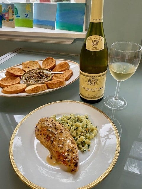 Pouilly-Fuisse and Chicken