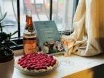 Raspberry tart Bouvet Ladubay rose wine, custard, dessert, pairing