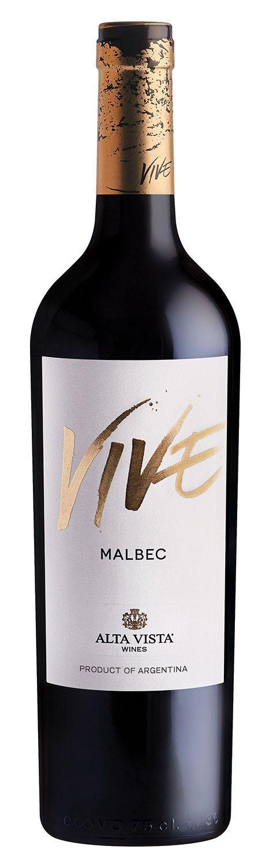 Alta Vista Vive Malbec wine bottle from Argentina