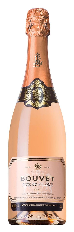 bouvet ladubay brut rose excellence wine bottle