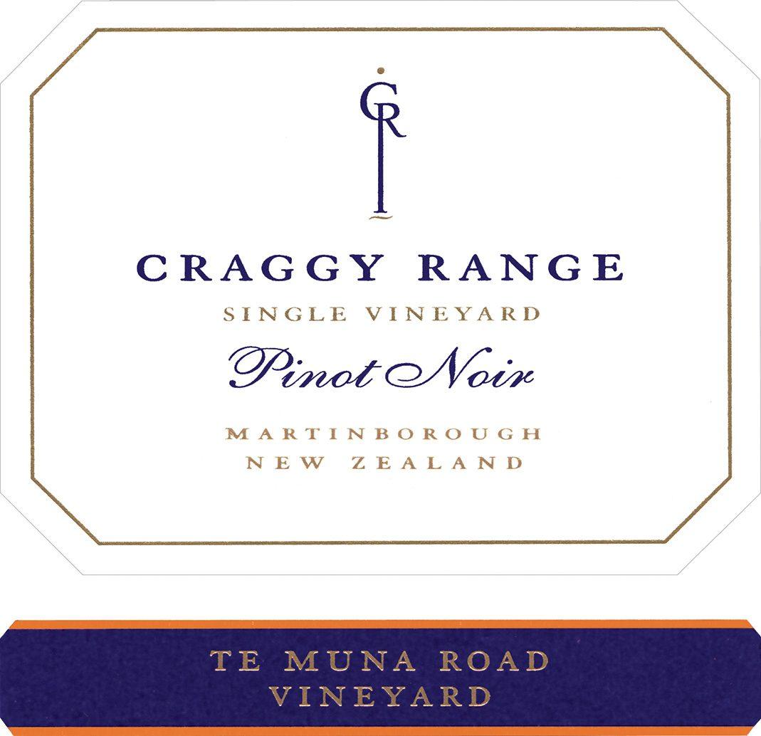 label of Craggy Range Te Muna Road Pinot Noir