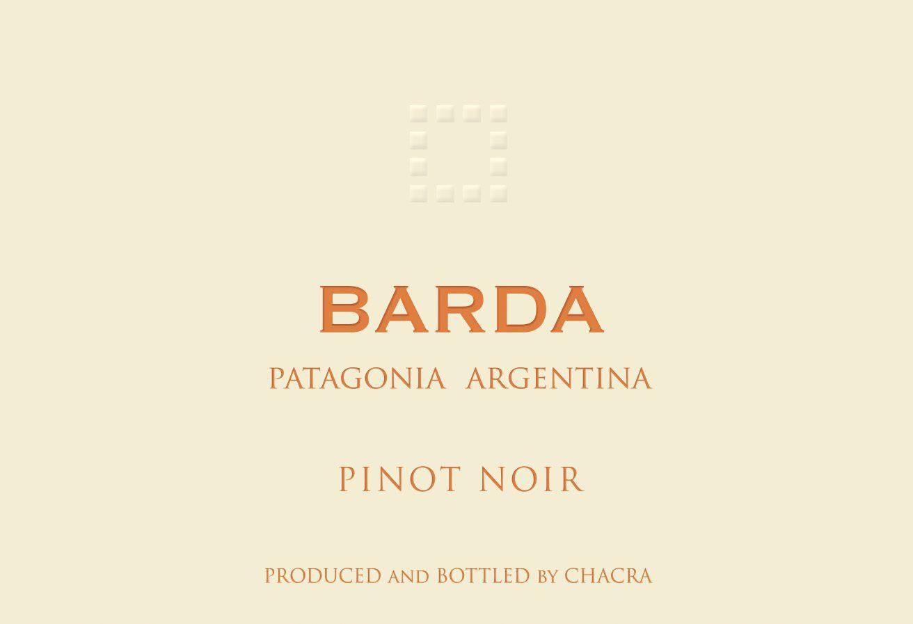Label of Barda Pinot Noir