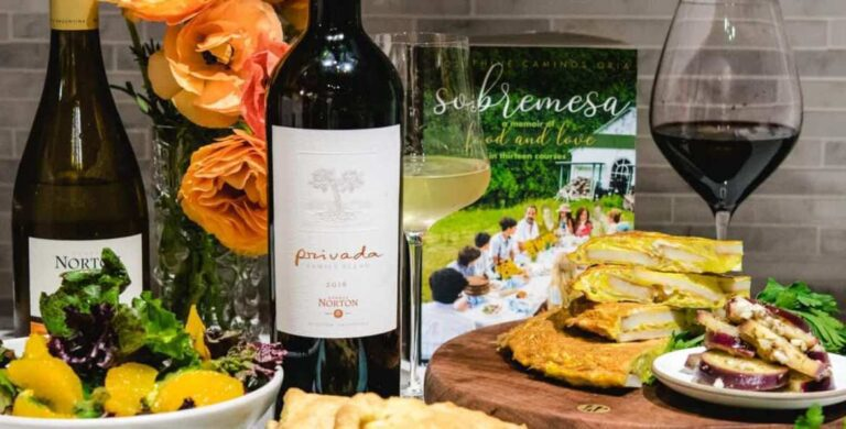 Argentine food with wine