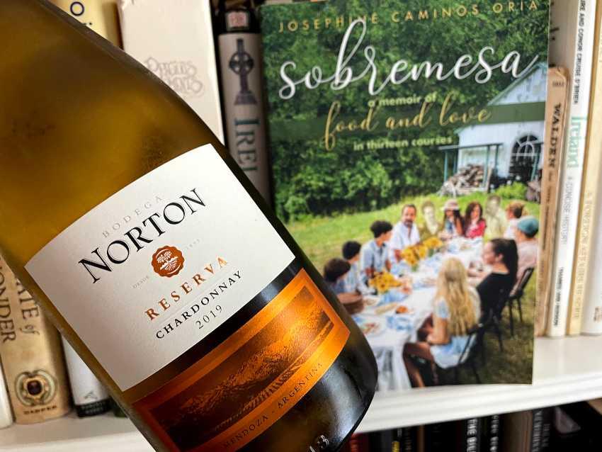 Bodega Norton wine bottle and cookbook (1)
