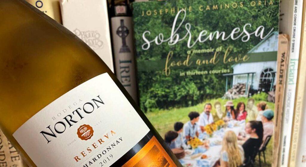 Bodega Norton wine bottle and cookbook