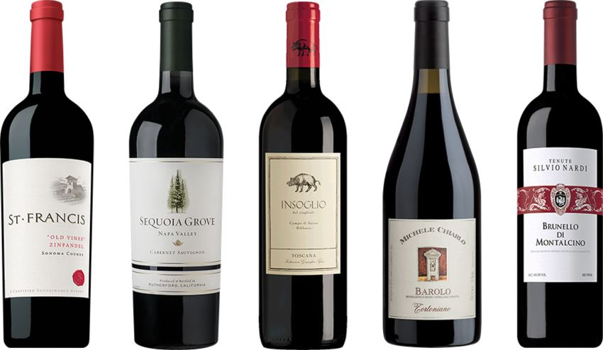Father's Day wine line-up from Napa Valley and Italy
