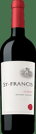 St Francis Claret wine bottle image