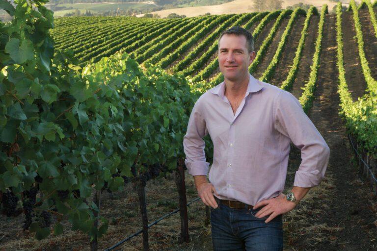 T.J. Evans, Winemaker in the Vineyards