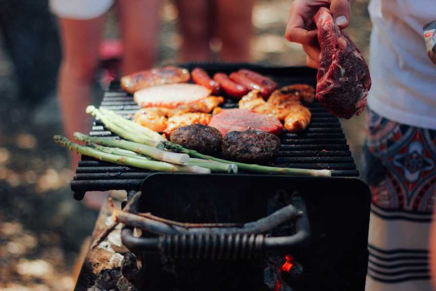 Grilling, barbecue, meat, outdoors cooking