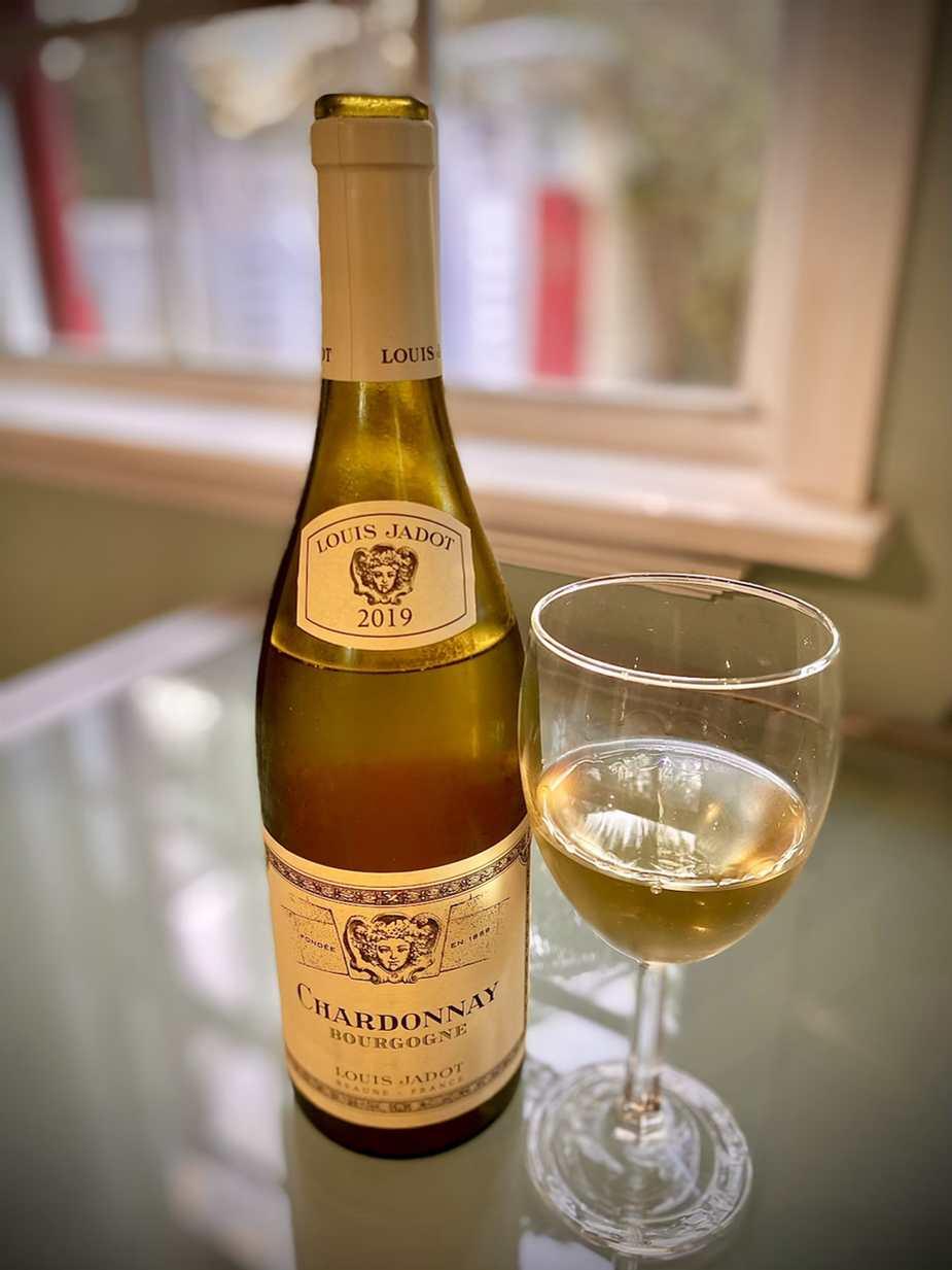 Bottle of Chardonnay wine