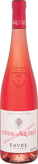 Chateau d Aqueria Tavel Rose wine bottle