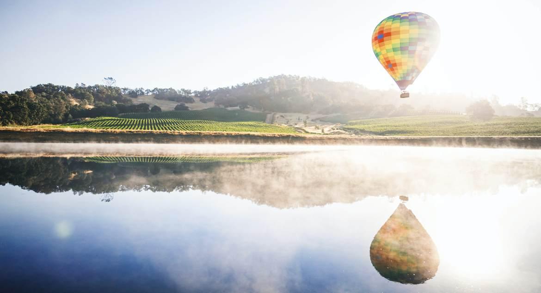 Napa Vineyards Balooning