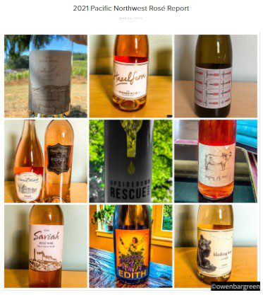 Rose report with images of Wine Bottles