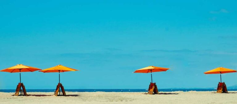 Umbrellas on a beach