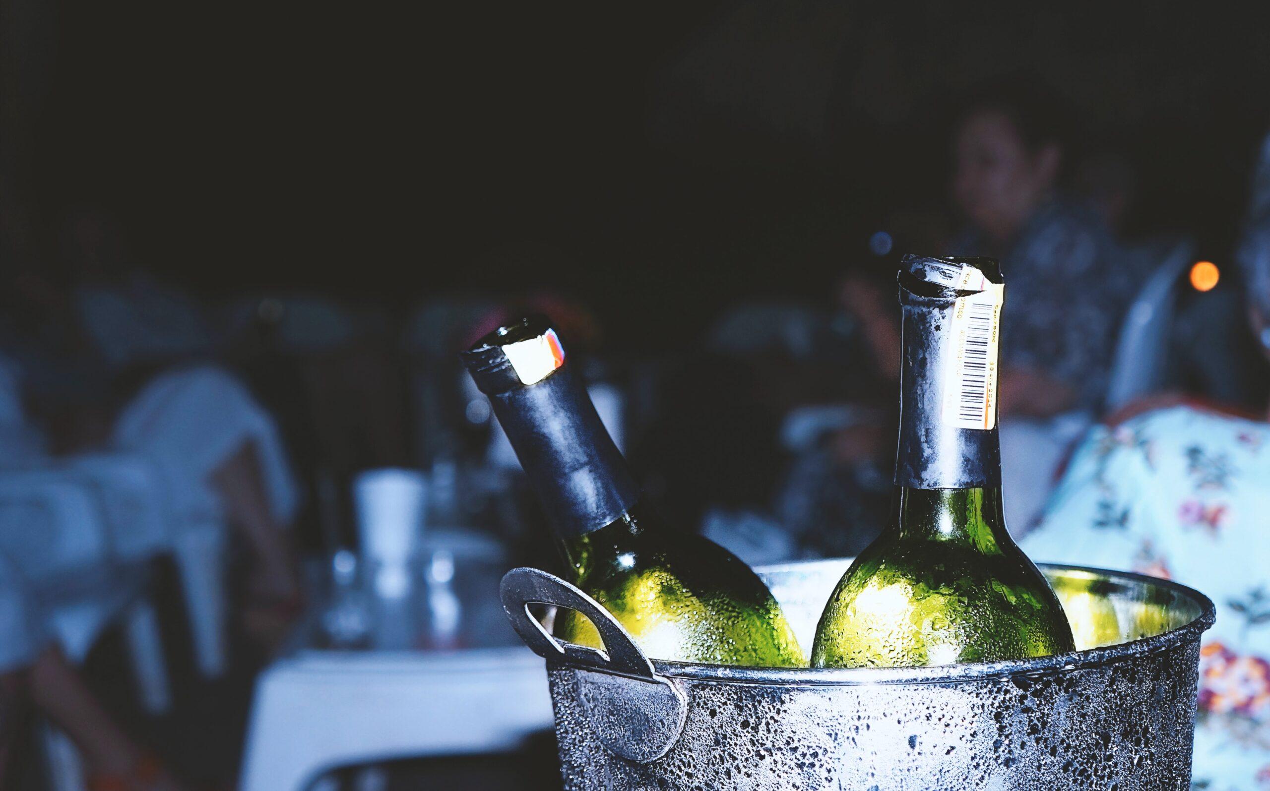 ice bucket with wine