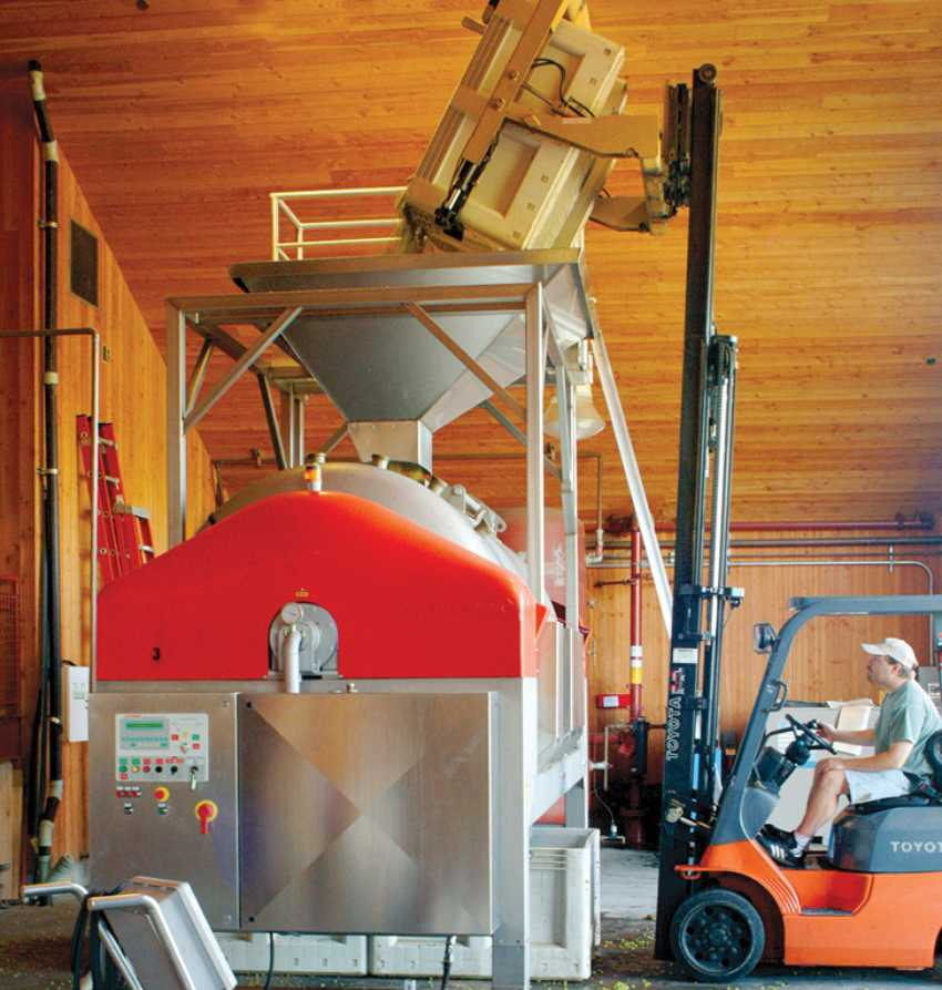 Cakebread Cellars: grape must about to undergo alcoholic fermentation