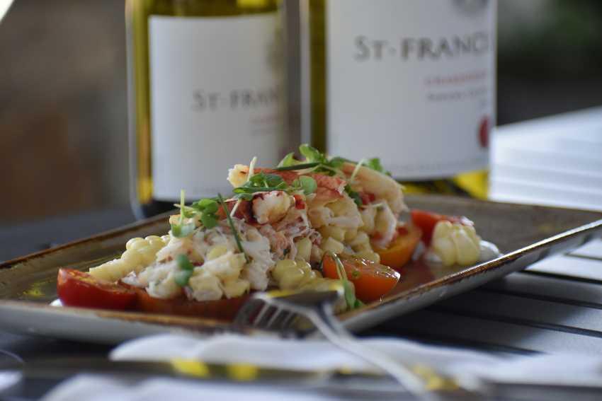 Crab Salad and St. Francis Chardonnay