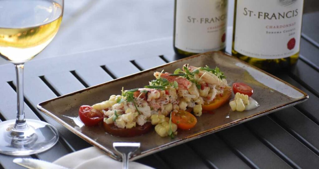 Crab Salad and white wine