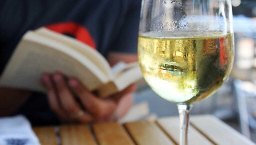 White Wine and book