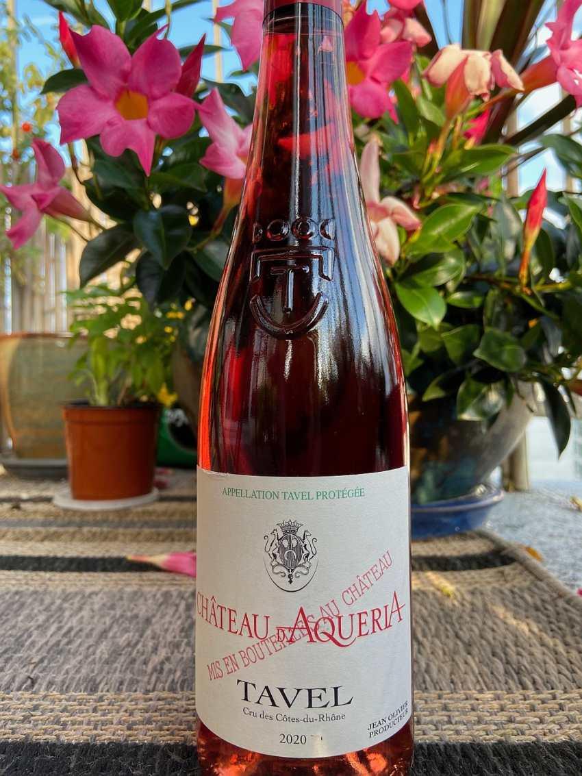 Chateau d'Aqueria Tavel wine for fall