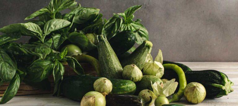 Farmer's market Basil and zucchini